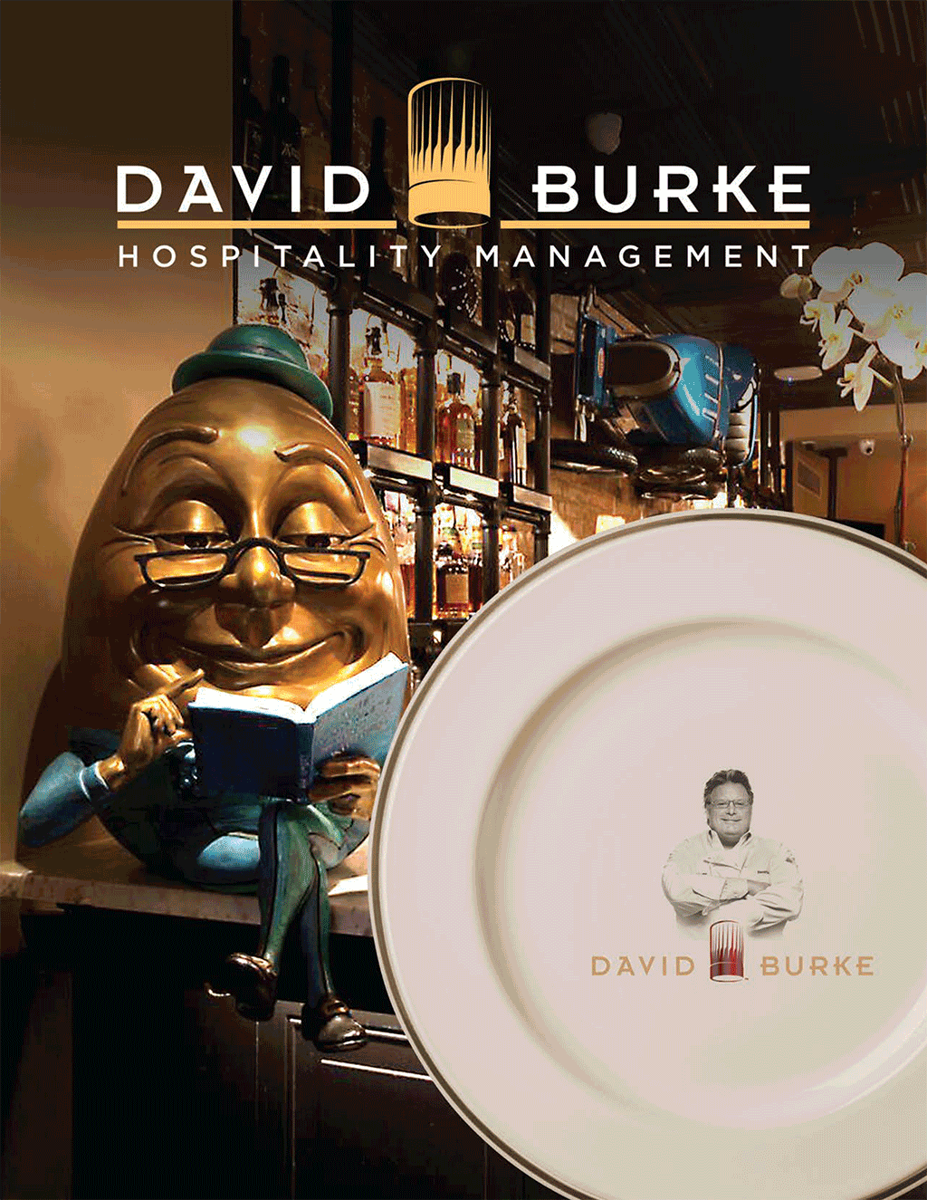David Burke Hospitality Management Brochure Cover
