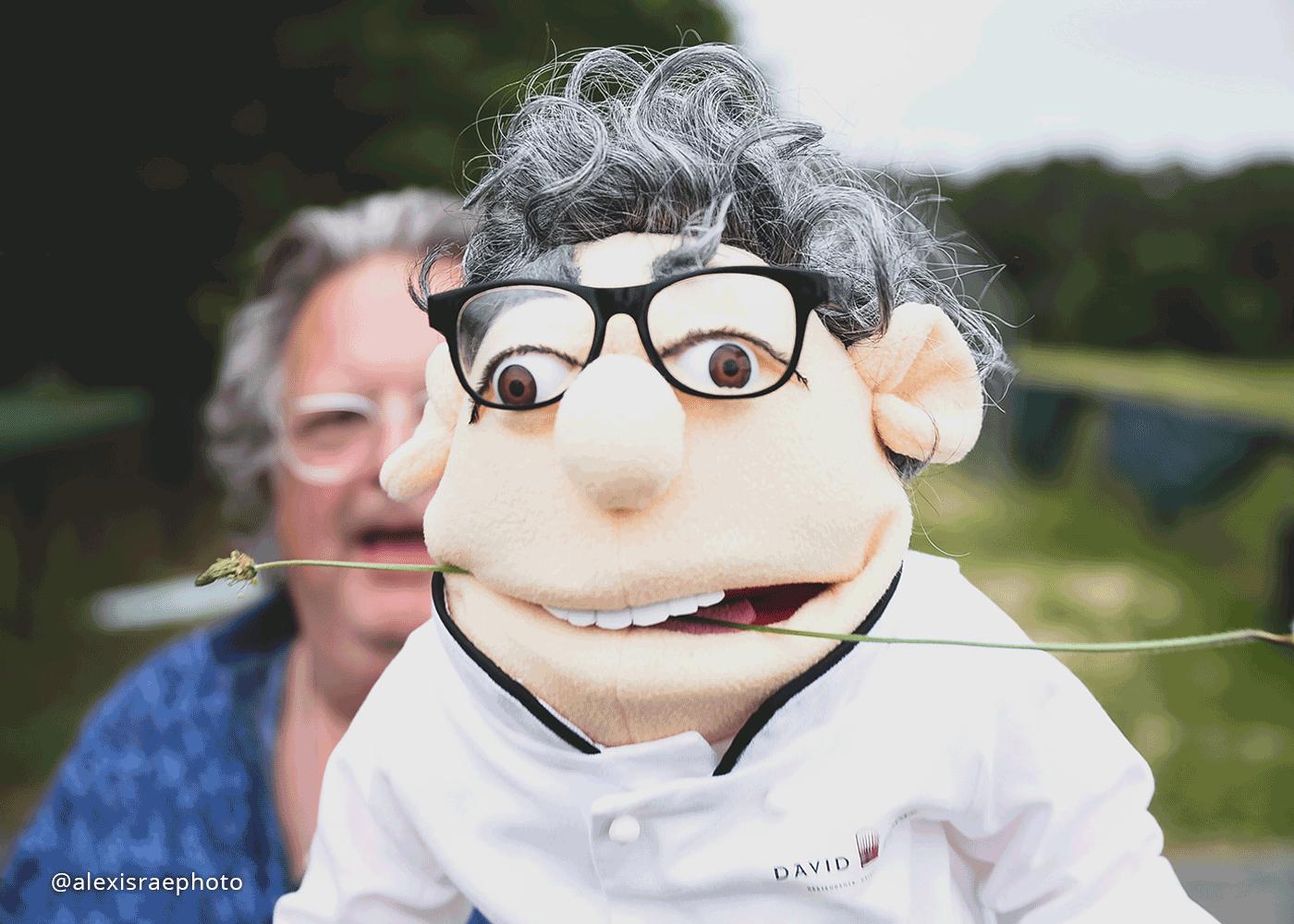 Hi. I'm Lefto. Chef Burke's puppet