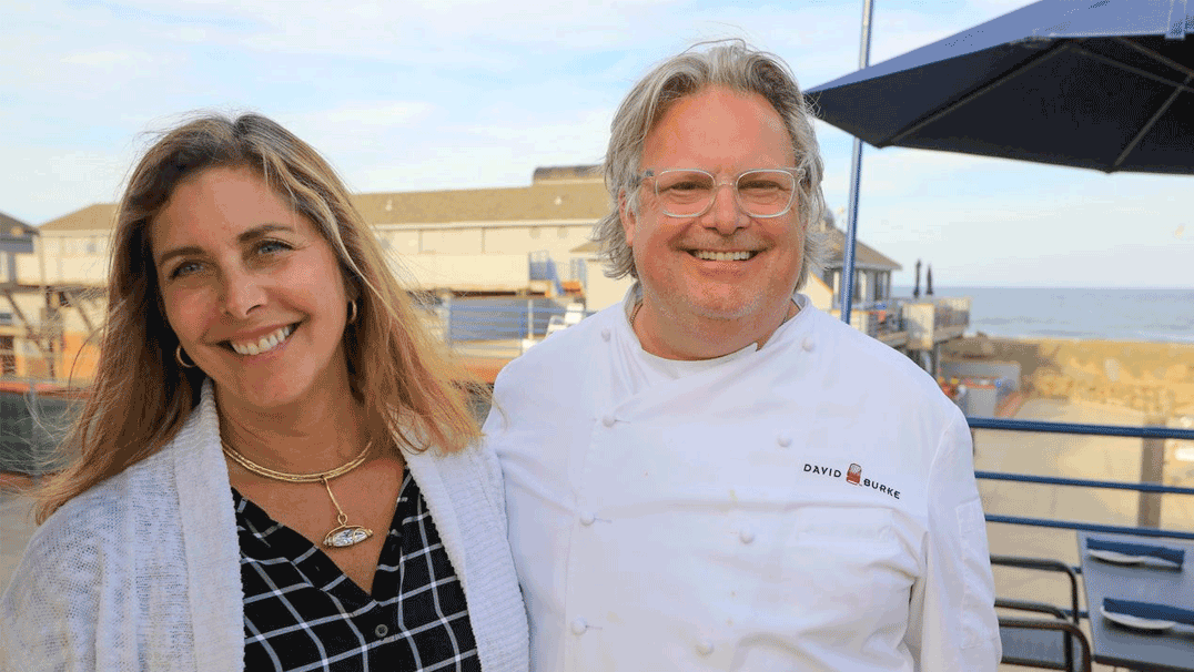 Marilou Crane Halvorsen and Chef David Burke
