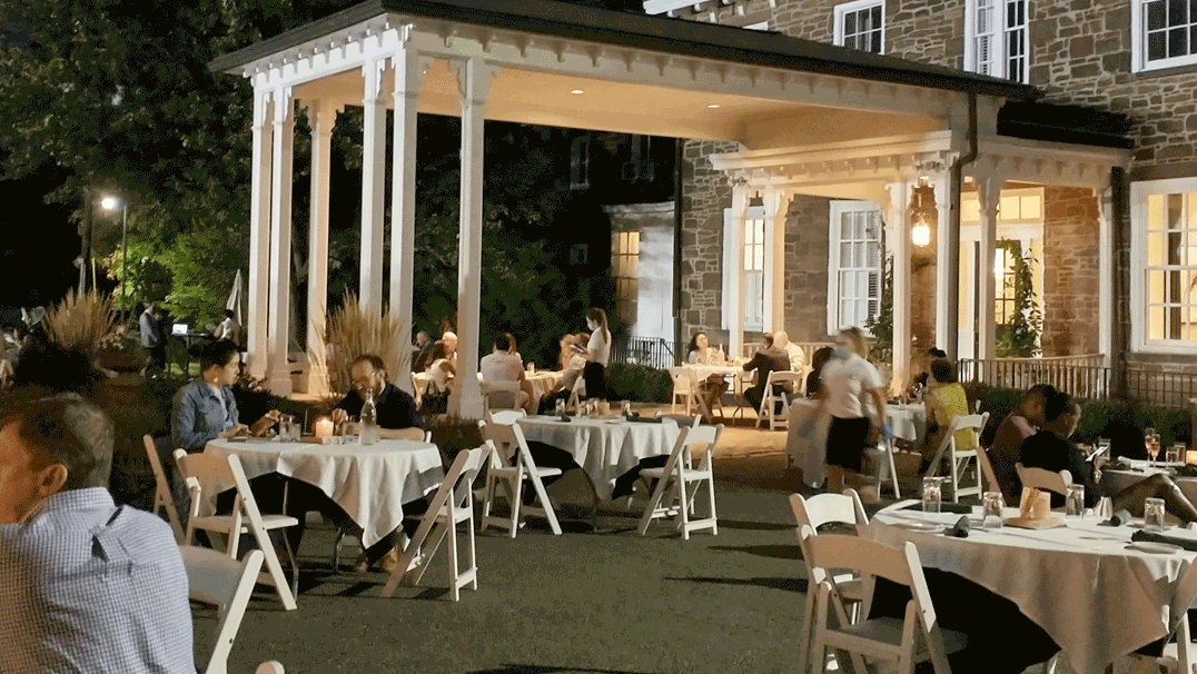 David Burke Orange Lawn Outdoor Dining