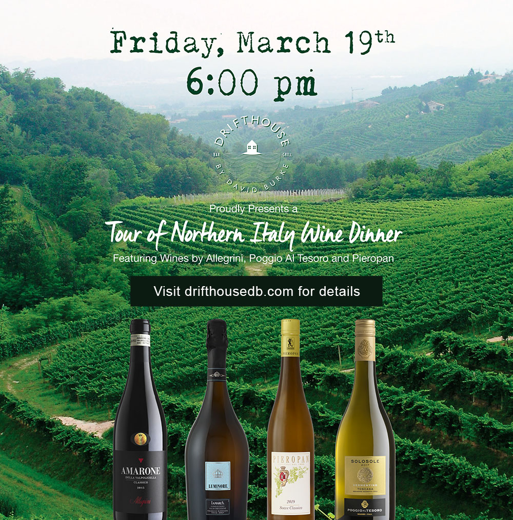 Drifthouse Wine Paired Dinner